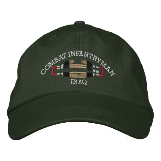 Iraq Combat Infantryman Badge Hat Embroidered Cap