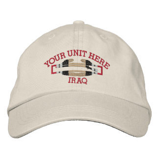 Iraq Combat Infantryman Badge (Your Unit) Hat Embroidered Cap