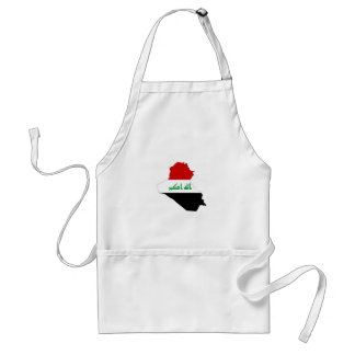 iraq country flag map shape symbol standard apron