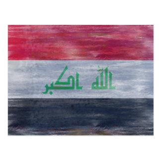 Iraq distressed flag postcard