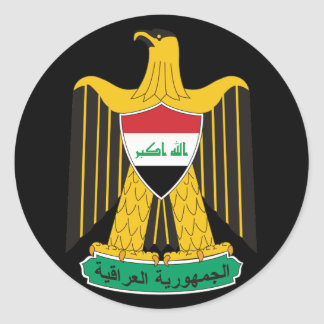 iraq emblem classic round sticker