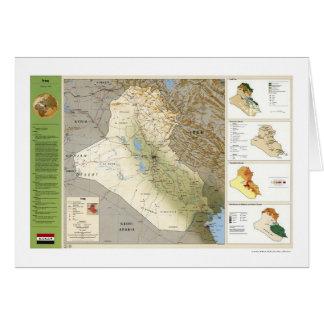 Iraq Facts Map - 1994 Card