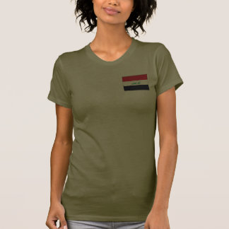 Iraq Flag and Map dk T-Shirt