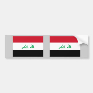 Iraq Flag Bumper Sticker