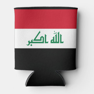 Iraq Flag Can Cooler