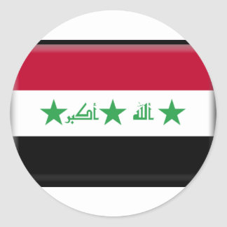 Iraq Flag Classic Round Sticker