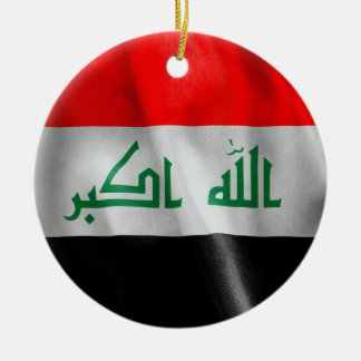 Iraq Flag Double-Sided Round Christmas Ornament