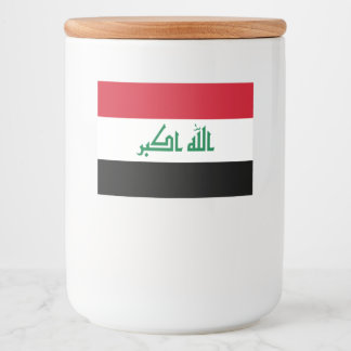Iraq Flag Food Label