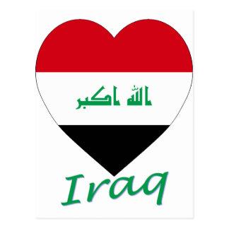 Iraq Flag Heart Postcard
