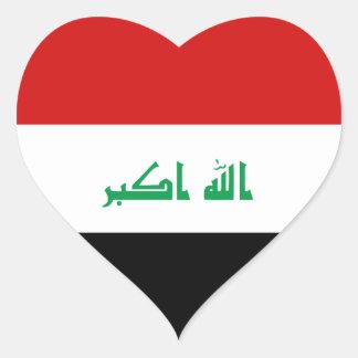 Iraq Flag Heart Sticker