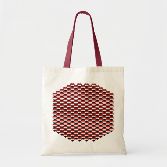 Iraq Flag Hearts Bag