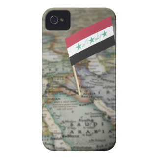 Iraq flag in map Case-Mate iPhone 4 cases