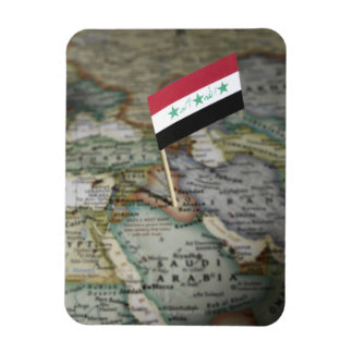 Iraq flag in map magnet