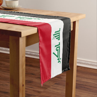 Iraq Flag Long Table Runner