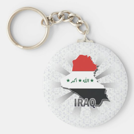 Iraq Flag Map 2.0 Key Ring