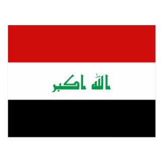 Iraq Flag Postcard