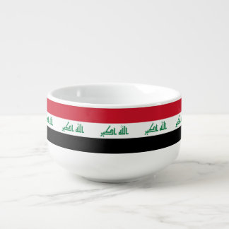 Iraq Flag Soup Bowl With Handle