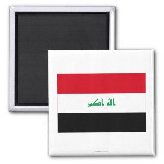 Iraq Flag Square Magnet