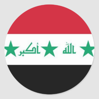 Iraq Flag Sticker - Customized