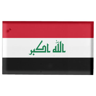 Iraq Flag Table Card Holder