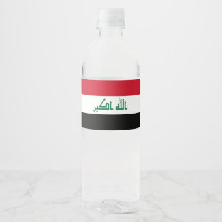 Iraq Flag Water Bottle Label