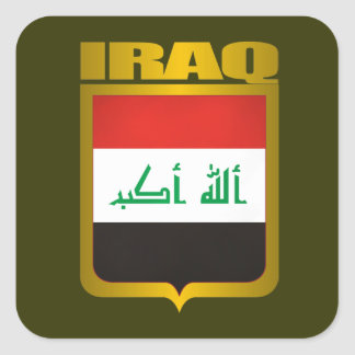 """Iraq Gold"" Square Sticker"