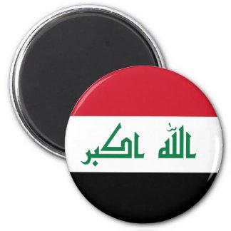 Iraq IQ , جمهورية العـراق کۆماری عێراق Flag, Baghd 6 Cm Round Magnet
