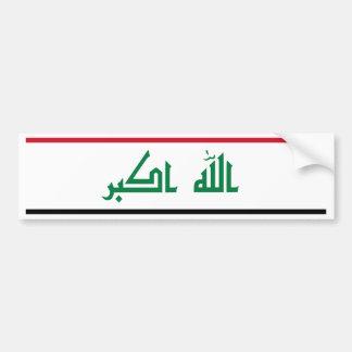 Iraq IQ , جمهورية العـراق کۆماری عێراق Flag, Baghd Bumper Sticker