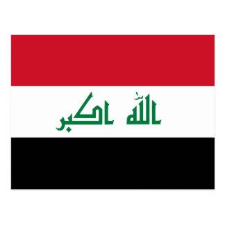 Iraq IQ , جمهورية العـراق کۆماری عێراق Flag, Baghd Postcard