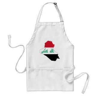 Iraq IQ , جمهورية العـراق کۆماری عێراق Flag, Baghd Standard Apron