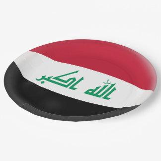 Iraq Iraqi Flag Paper Plate