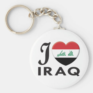 Iraq Love Basic Round Button Key Ring