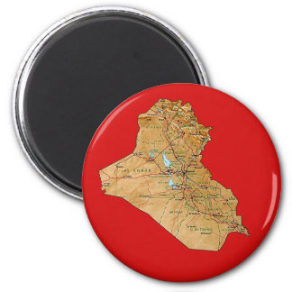 Iraq Map Magnet