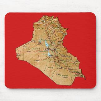 Iraq Map Mousepad
