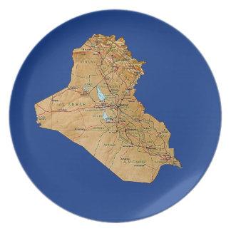 Iraq Map Plate