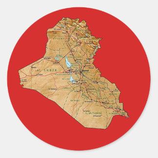 Iraq Map Sticker