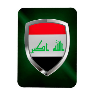 Iraq Metallic Emblem Magnet