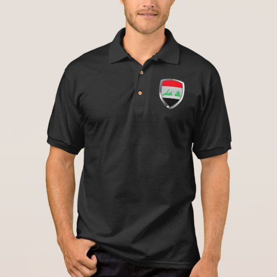 Iraq Metallic Emblem Polo Shirt