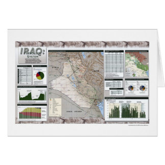 Iraq Oil Facts Map - 2002 Card