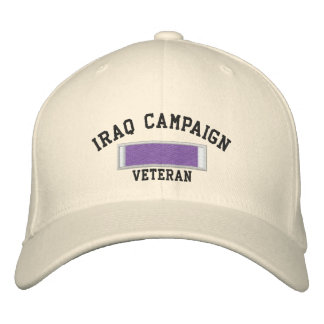Iraq Purple Heart Embroidered Hat