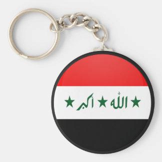 Iraq quality Flag Circle Basic Round Button Key Ring