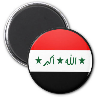 Iraq quality Flag Circle Magnet