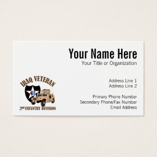 Iraq Vet 2nd ID - Humvee Business Card