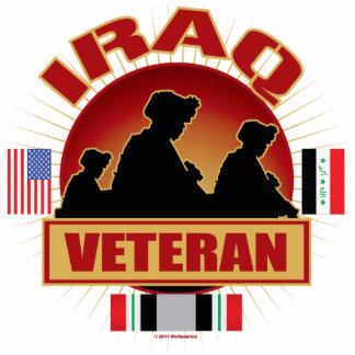 Iraq Vet Flags Standing Photo Sculpture