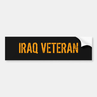 IRAQ VETERAN BUMPER STICKER