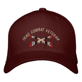Iraq Veteran Cavalry Crossed Sabers Hat Embroidered Hats