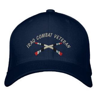 Iraq Veteran Infantry Crossed Rifles Hat Embroidered Hat