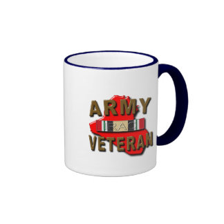 Iraq Veteran Service Ribbon ARMY Coffee Mugs