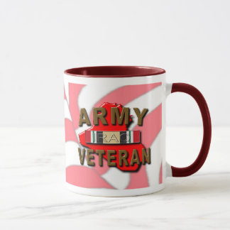 Iraq Veteran Service Ribbon, ARMY Mug