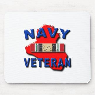 Iraq Veteran Service Ribbon NAVY Mouse Pad